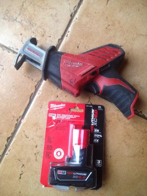 Milwaukee M12 hackzall with 6.0 AH battery