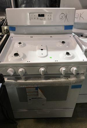 ge stove white 5 burner