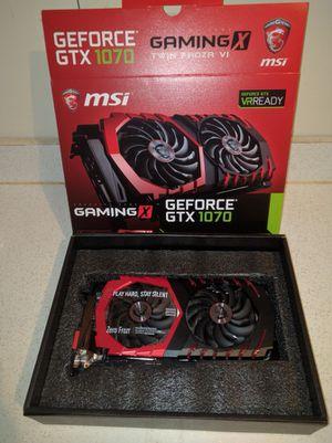 MSI GeForce GTX 1070 8GB video cards
