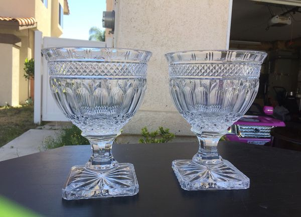 Pretty Crystal Vase Set Size 95 Tall Household In Murrieta Ca