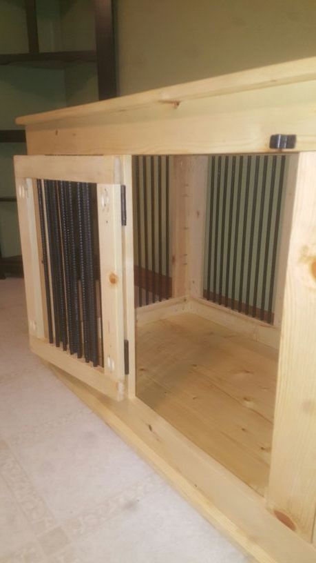 Custom Handmade Indoor Dog Kennel House Crate Table (Home & Garden ...