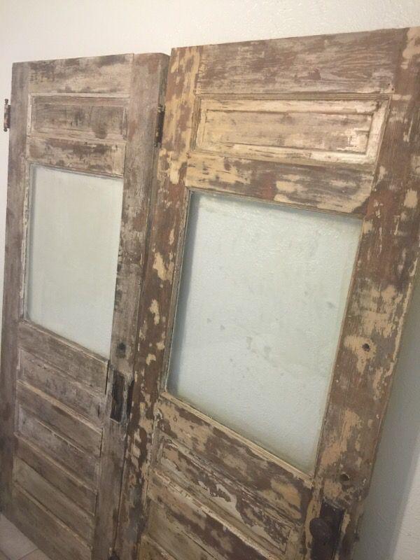 2 vintage wood doors furniture in cedar park tx offerup for Cedar park furniture