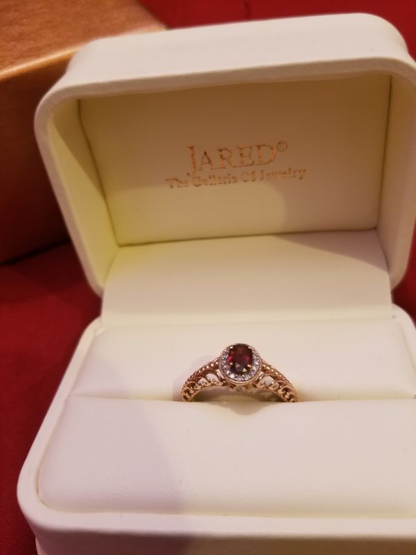 Jareds Earthly Treasures Smithsonian collection Rose Gold Garnet