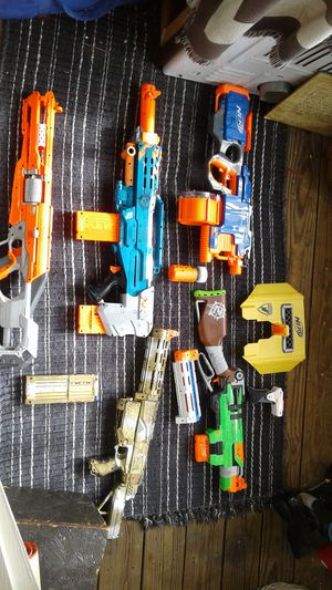 Nerf guns with attachments