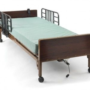 Drive Residential Electric Hospital Bed with Rails and Alternating Pressure Mattress with Remote Control loaded Ready to Deliver