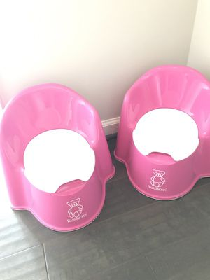 Two Baby Bjorn Pink Potty Seats