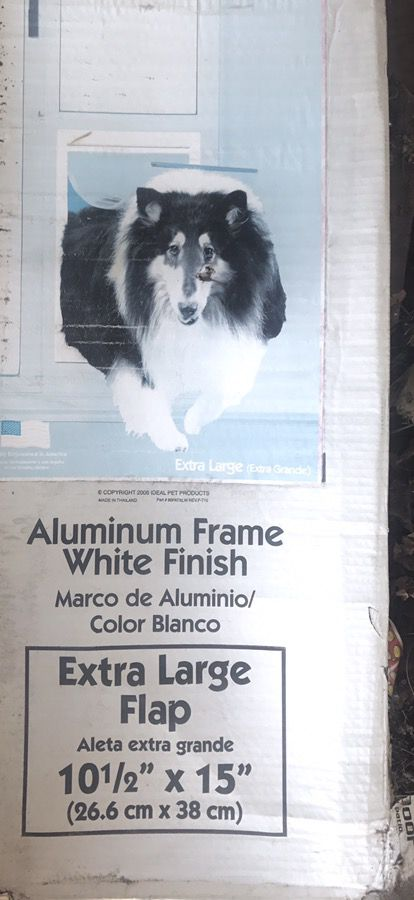 Doggy Door W Extra Large Flap Aluminum Framewhite Finish Pet