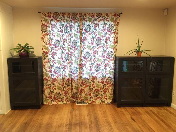 ikea besta shelf with glass doors furniture in renton wa offerup. Black Bedroom Furniture Sets. Home Design Ideas