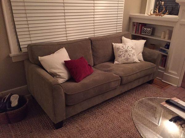 World Market Morgan Sofa Green Gray Furniture In Seattle Wa Offerup