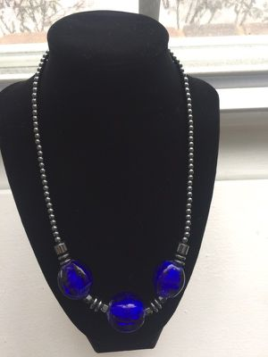 Handmade blue necklace