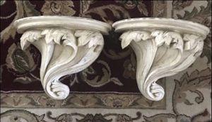 White textile shelf set vintage antique house decor