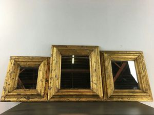 Set of Three Gold Framed Mirrors (1011696)