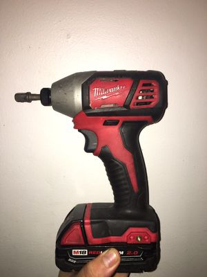 Milwaukee electric impact 1/4 with battery NO charger