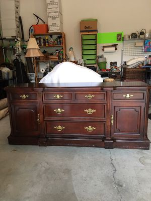 Cherry china hutch (base shown) top also available.