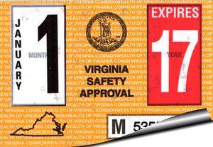 Virginia inspection stickers
