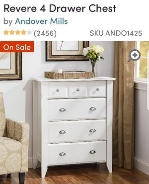 *Like new*4 drawer chest - final price @ 100