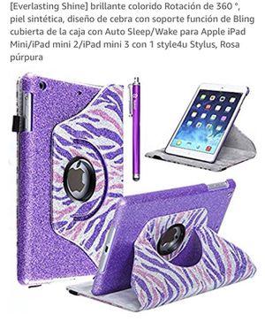 iPad mini case with Stylus pen purple color