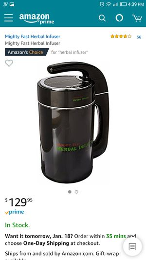 Brand new Mighty fast herbal infuser