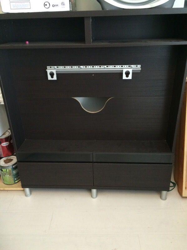 ikea besta boas tv stand furniture in oak lawn il offerup. Black Bedroom Furniture Sets. Home Design Ideas