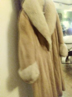 Mink and fox coat