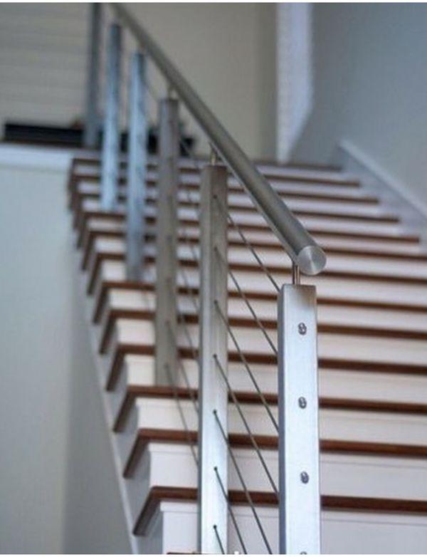 Pasamanos y barandas para escaleras de acero inoxidable - Barandas de forja para escaleras ...
