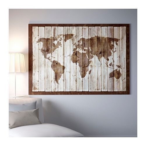 driftwood world map canvas 78 34 x 55 furniture in los angeles ca offerup