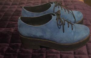 Blue velvet oxfords size 7