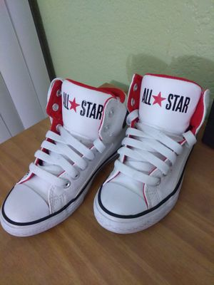 White leather kids converse