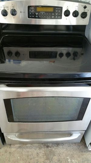 Stove GE Profile 5 Burners Convection Oven Stainless steel