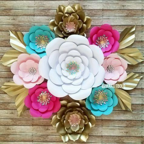 Wall decoration paper flowers arts crafts in lawrenceville ga wall decoration paper flowers mightylinksfo Image collections