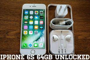 Iphone 6S 64GB UNLOCKED w/ Apple Accessories (Gold)