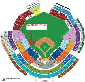 NATS TICKETS-FRONT ROW ON THE FIELD