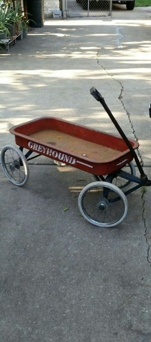 Antique Greyhound Little Red Wagon with Rare Baby Buggy Wheels
