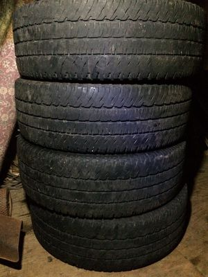 Four LT 275-65-R20 Michelin Tires