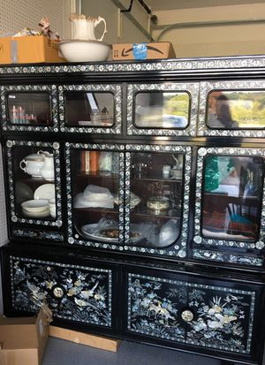 Antique Asian Inlayed Hutch Amazing Detail