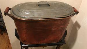 Antique Copper & Tin Container