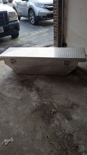 """A 61"""" x 21"""" back of the bed toolbox for truck"""
