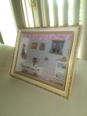 Wooden frame with illustration