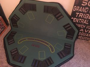 Poker table, folding