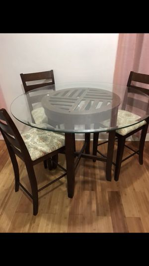 Dining Table 3 Chairs Set