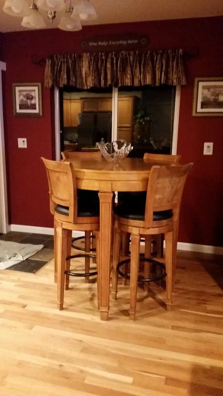 Casa bella solid wood pub table furniture in bremerton wa for Bella casa d artigiano
