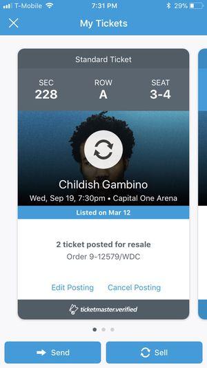 2 Childish Gambino Tickets