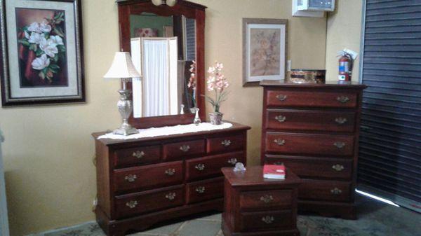 Bedroom Dresser Set 4pc Solid Wood Nice Furniture In