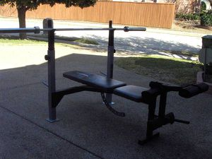 Eeider Weight Bench with Barbell and Weights