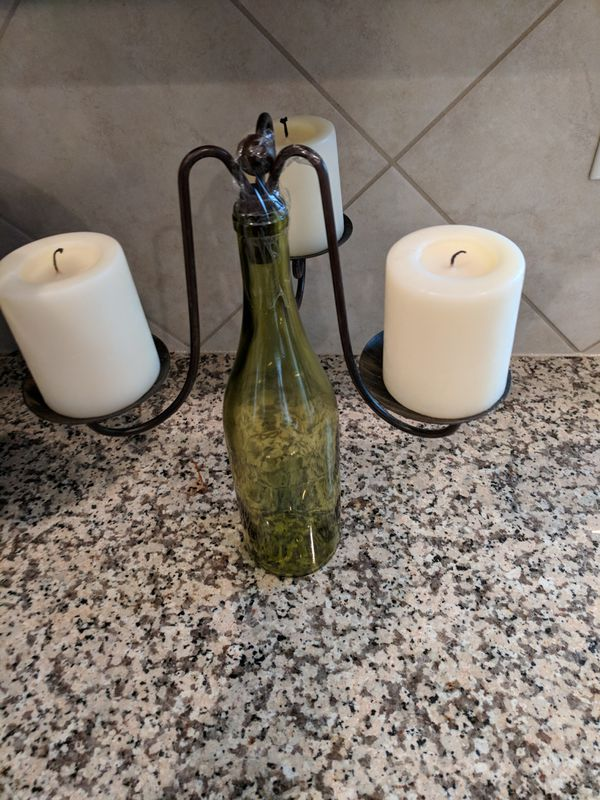5 Wine Bottle Candle Holder Home Garden In Clayton Nc