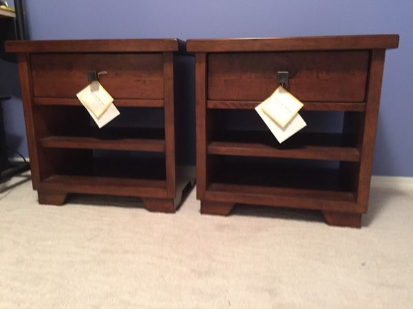 Pottery Barn Sumatra Bedside Tables Furniture In Snohomish Wa Offerup