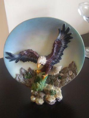 Ceramic Bald Eagle Sculpture