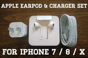 Iphone 7 / 8 / X Earpod & Charger Set (Originals)