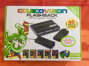 Coleco Vision flashback classic game console and 2 controller / NEW open box