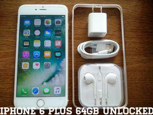 Gold Iphone 6 Plus 64GB UNLOCKED w/ Apple Accessories